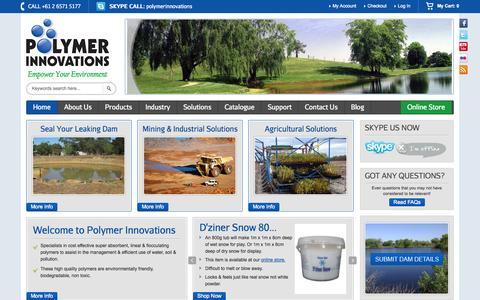 Screenshot of Home Page polymerinnovations.com.au - Home - captured Sept. 30, 2014