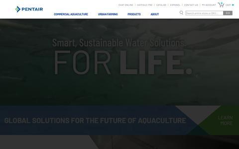 Screenshot of Home Page pentairaes.com - Pentair Aquatic Eco-Systems - captured Dec. 21, 2018