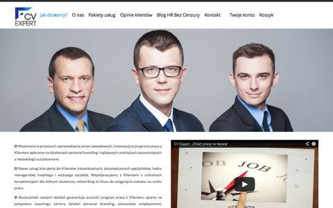 Screenshot of Home Page cvexpert.pl - CV Expert  | Wspieramy specjalistów i menadżerów - captured Sept. 26, 2014