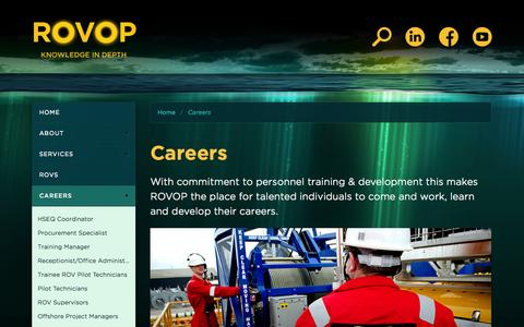 Screenshot of Jobs Page rovop.com - ROVOP - Careers - captured Sept. 17, 2014