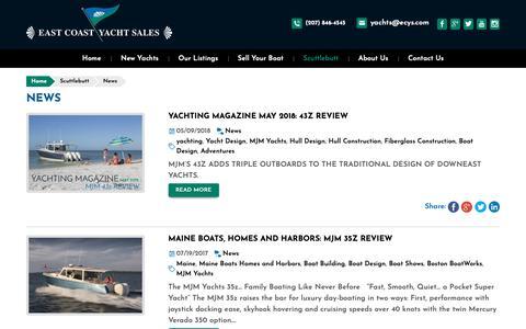 Screenshot of Press Page ecys.com - News - captured Dec. 13, 2018
