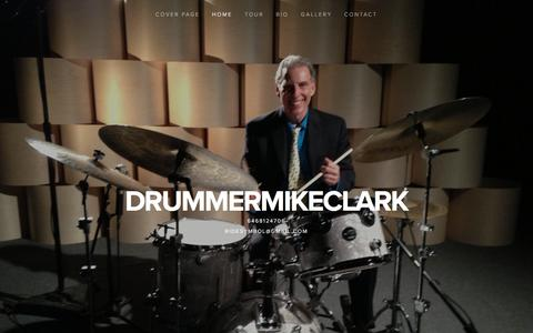 Screenshot of Home Page drummermikeclark.info - drummermikeclark - captured Jan. 28, 2018