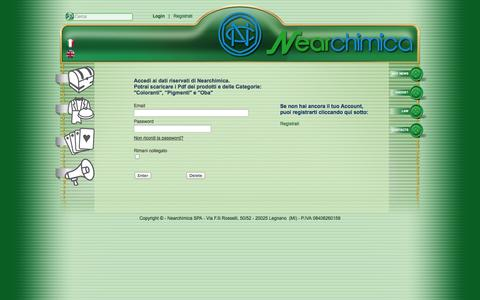 Screenshot of Login Page nearchimica.it - Login - captured Oct. 26, 2014