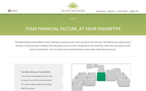 Screenshot of Maps & Directions Page milleradvisors.com - The Miller Advisors Portal (MAP) - captured Oct. 19, 2017