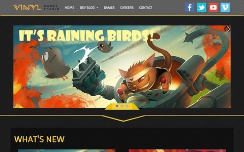 Screenshot of Home Page vinylgs.com - Vinyl Games Studio - captured Sept. 4, 2015