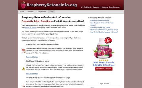 Screenshot of FAQ Page raspberryketoneinfo.org - Raspberry Ketone Guides And FAQs - captured Oct. 30, 2014