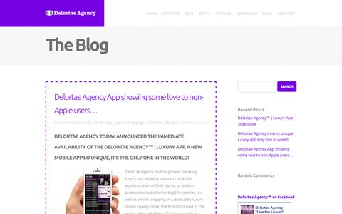 Screenshot of Blog delortaeagency.com - Delortae Agency™ | Luxury App PortalBlog - Delortae Agency™ | Luxury App Portal - captured Oct. 27, 2014
