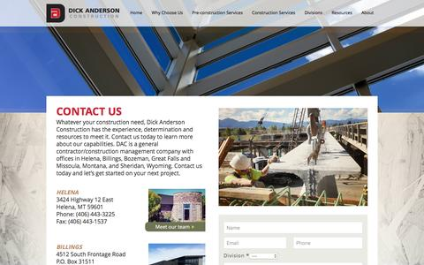 Screenshot of About Page daconstruction.com - Dick Anderson Construction   Contact Us Dick Anderson Construction - captured Nov. 24, 2016