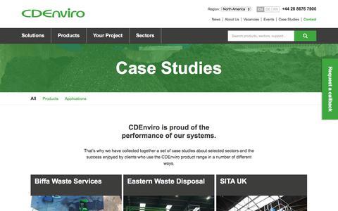 Screenshot of Case Studies Page cdenviro.com - Case Studies | CDEnviro - captured July 8, 2017