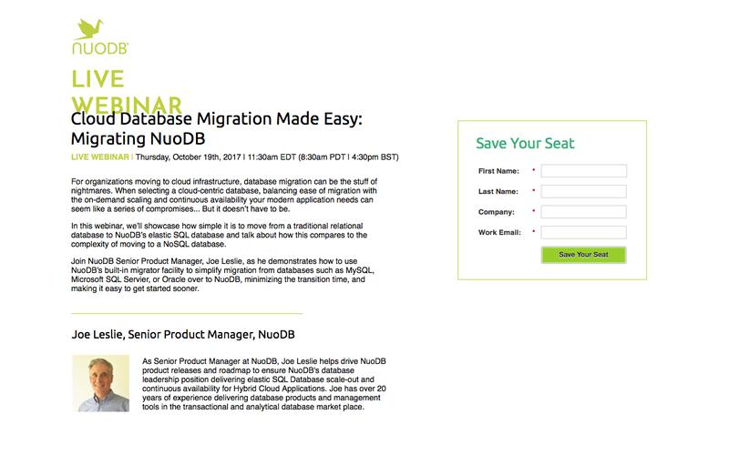 Migrating to NuoDB