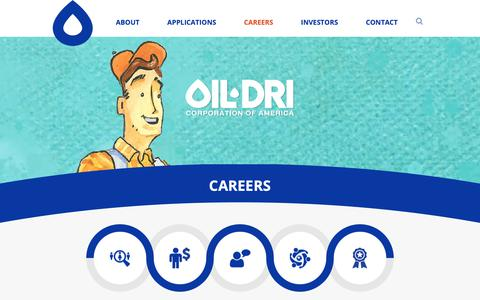 Screenshot of Jobs Page oildri.com - Careers - Oil-Dri Corporation of America - captured Nov. 17, 2018
