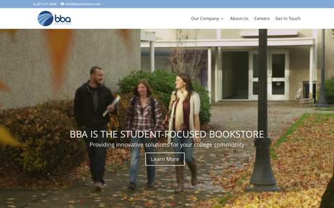 Screenshot of Home Page bbasolutions.com - Home - BBA Solutions - captured March 5, 2016