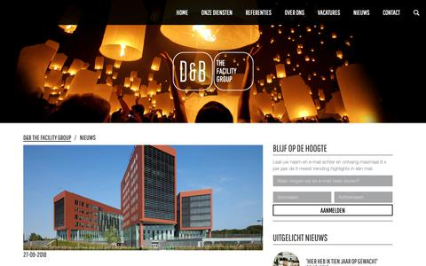 Screenshot of Press Page db.nl - Facilitair Nieuws | D&B The Facility Group - captured Sept. 28, 2018