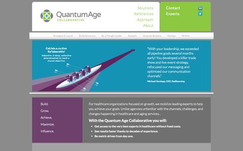 Screenshot of Home Page quantum-age.com - Quantum Age Collaborative - captured Oct. 2, 2014