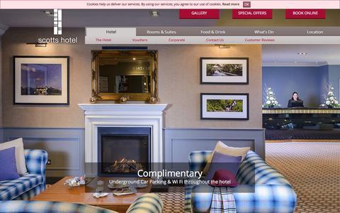 Screenshot of Home Page scottshotelkillarney.com - Scotts Hotel in Killarney | Accommodation in Killarney Town, Kerry - captured Sept. 21, 2018