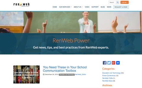 Screenshot of Blog renweb.com - Blog - RenWeb - captured Jan. 11, 2016