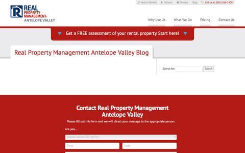 Screenshot of Blog rpmantelopevalley.com - Lancaster CA Property Management Blog   Real Property Management Antelope Valley - captured Oct. 8, 2017