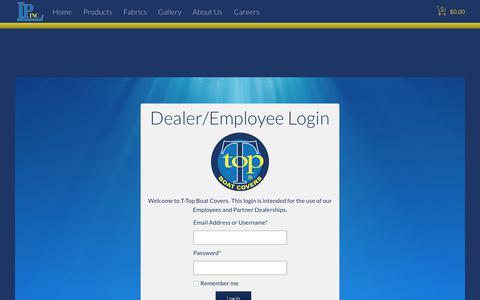 Screenshot of Login Page ttopcovers.com - Login - captured Oct. 18, 2017