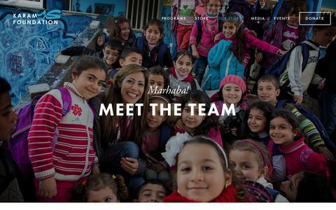 Screenshot of Team Page karamfoundation.org - Team — Karam Foundation - captured June 9, 2017