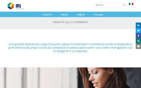 Screenshot of Case Studies Page iriworldwide.com - Insights sull'E-Commerce- IRI - captured Jan. 6, 2020