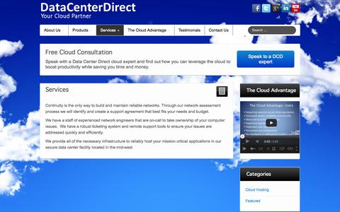 Screenshot of Services Page datacenterdirect.com - Services - DataCenterDirect - captured Sept. 30, 2014