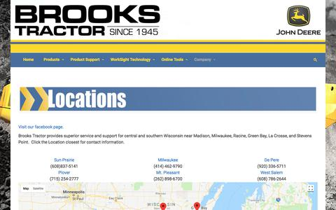 Screenshot of Locations Page brookstractor.com - Brooks Tractor Inc: Find Your Store - captured Aug. 4, 2018