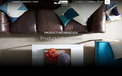 Screenshot of Products Page shawfloors.com - Product Information | Shaw Floors - captured Jan. 14, 2016