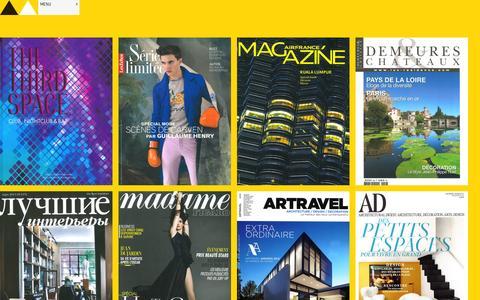 Screenshot of Press Page albert-angel.com - Press & Media Articles Albert Angel - Architecture, Interiors & Design - New York City, USA - captured Oct. 4, 2014