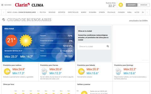 Clima en Ciudad de Buenos Aires - Clarin.com