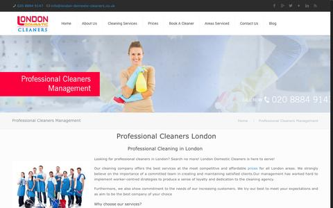 Screenshot of Team Page london-domestic-cleaners.co.uk - Professional Cleaners London | Professional Cleaning | Domestic Cleaners - captured Oct. 28, 2014