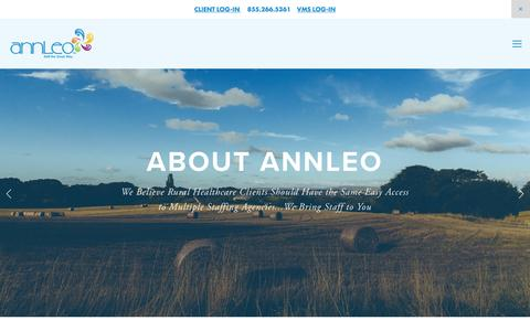 Screenshot of About Page annleo.com - About — annLeo - captured Nov. 21, 2016