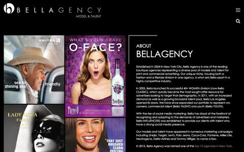 Screenshot of About Page bellaagency.com - About Us | Bella Agency New York - captured Sept. 22, 2018