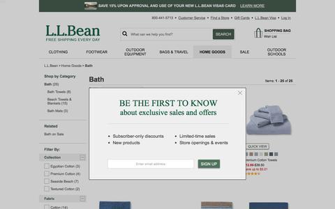 Towels & Bath Mats | Free Shipping at L.L.Bean