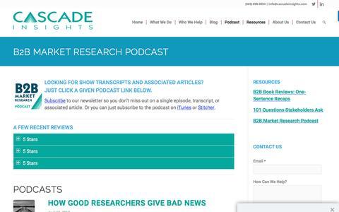 B2B Market Research Podcast - Cascade Insights