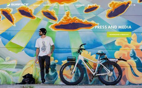 Screenshot of Press Page surface604.com - Press | Electric Fat Bike | Surface 604 - captured Nov. 18, 2015