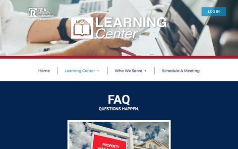Screenshot of FAQ Page expressrpm.com - FAQ - - captured Aug. 12, 2019