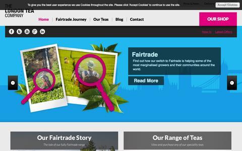 Screenshot of Home Page londontea.co.uk - Welcome to The London Tea Company - captured Oct. 6, 2014