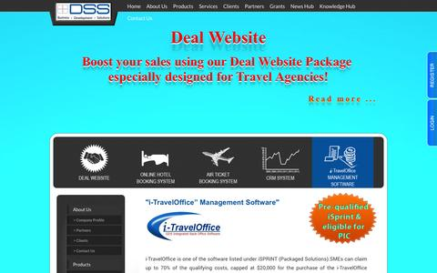 Screenshot of Products Page dss.com.sg - Distributed Software Solution Pte Ltd. - captured Oct. 5, 2014