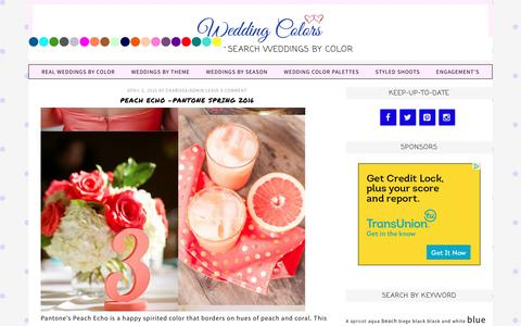 Screenshot of Home Page weddingcolors.net - Wedding Colors -Themes,Tips and Real Wedding Inspiration - captured April 6, 2016