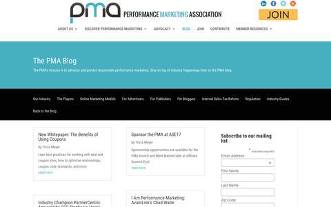 Screenshot of Blog thepma.org - Blog | The PMA - captured June 29, 2017