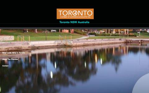 Screenshot of Home Page toronto.com.au - Vibrant town In Lake Macquarie | Toronto | Toronto Chamber Of Commerce - captured Oct. 20, 2018