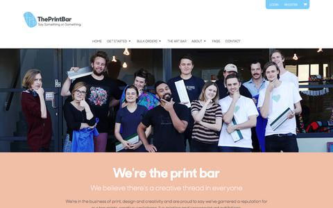 Screenshot of About Page theprintbar.com - About The Print Bar - captured July 21, 2018