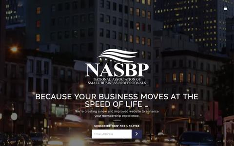 Screenshot of Home Page small-business-association.com - National Association of Small Business Professionals - captured May 30, 2016