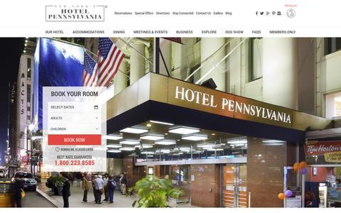 Screenshot of Testimonials Page hotelpenn.com - NYC Hotel Reviews | Hotel Pennsylvania - captured Jan. 26, 2016