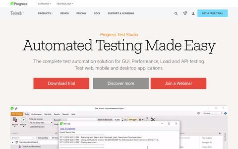Software Testing Tools, Automated Testing Software - Telerik