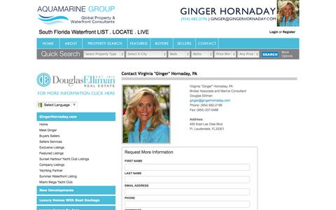 Screenshot of Contact Page gingerhornaday.com - Contact - captured Oct. 4, 2014