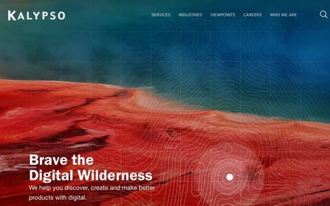 Screenshot of Home Page kalypso.com - Kalypso | Better Products with Digital - captured Nov. 11, 2018