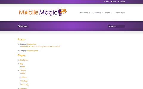 Screenshot of Site Map Page mobilemagicllc.com - Sitemap - Mobile Magic LLC - captured Oct. 7, 2014