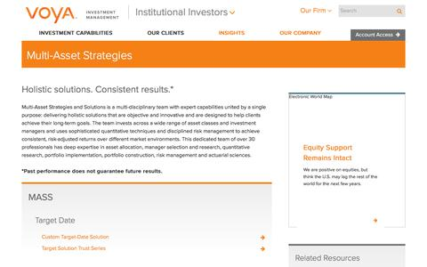 Multi-Asset Strategies | Voya Investment Management