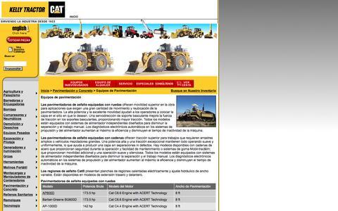Screenshot of Landing Page kellytractor.com - Kelly Tractor Equipos de Pavimentacion - captured Aug. 12, 2016